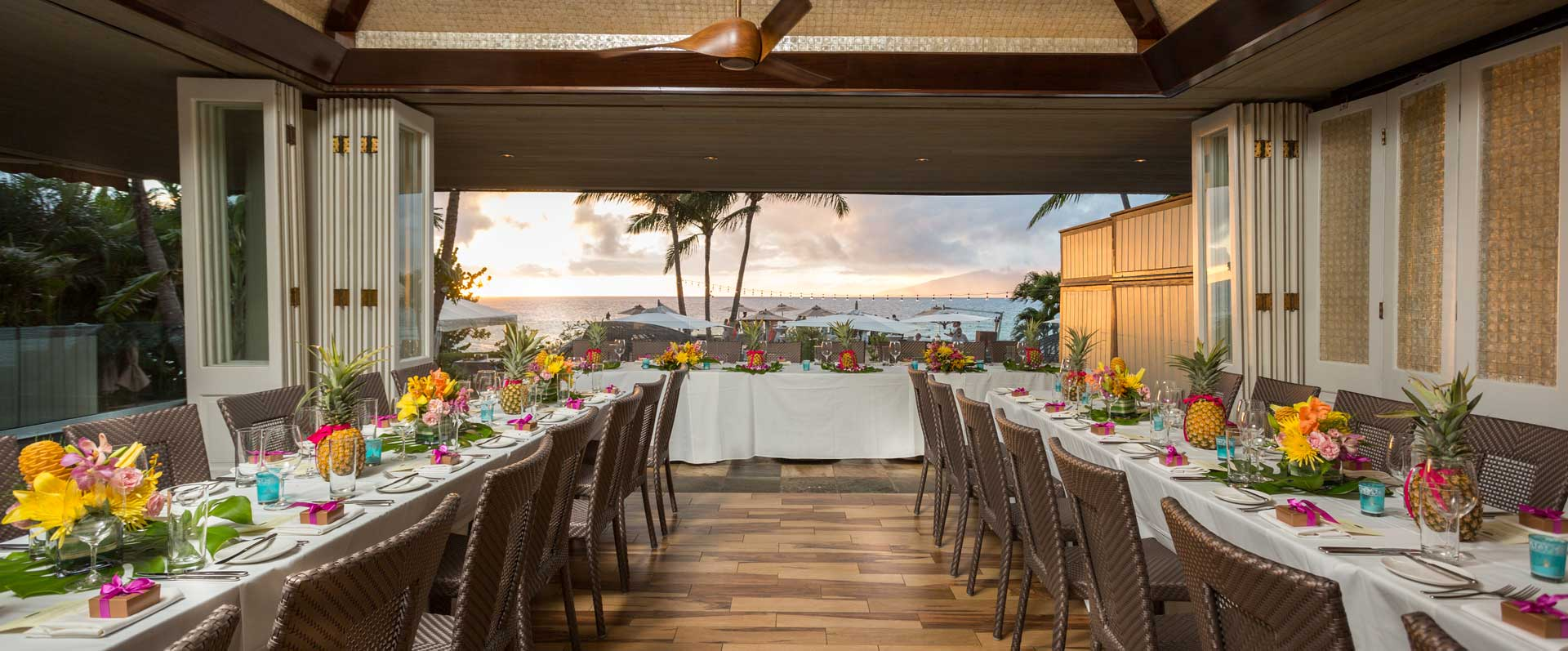 Partial Buyout EXCLUSIVE USE OF FULL OCEANFRONT DECK & A PORTION OF THE OPEN AIR FINE DINING ROOM FOR LARGE PARTIES